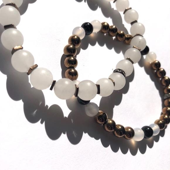 701c0de9b Vain Accessories Jewelry | Natural Stone Beaded Bracelet Stack ...